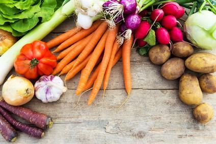 Gemüse garen in der Heißluft Fritteuse