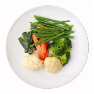 Gemüse aus dem Dampfgarer